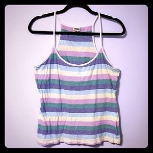 GUC Route 66 colorful striped racerback tank, XL